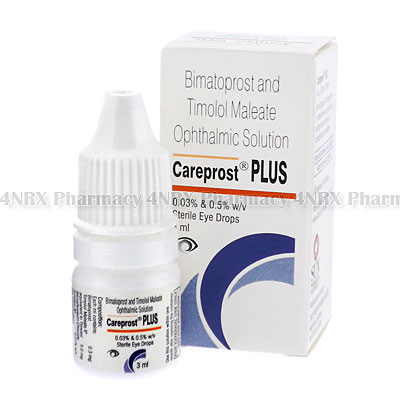 Careprost Plus Eye Drops (Bimatoprost/Timolol Maleate)