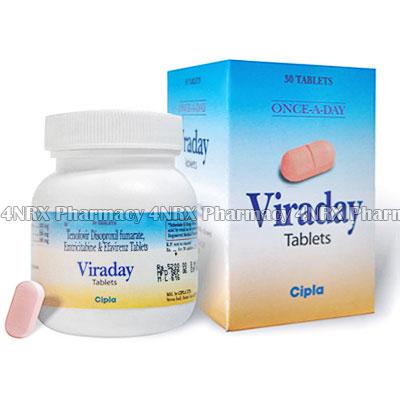 Viraday (Tenofovir Disoproxil Fumarate/Emtricitabine/Efavirenz)