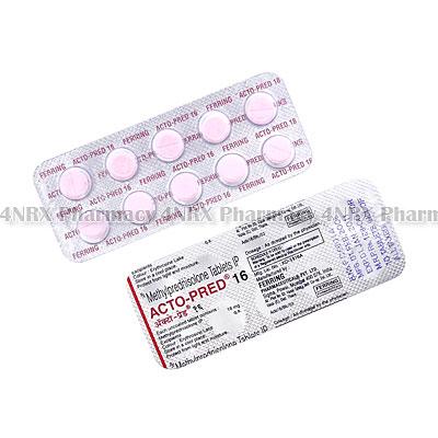 Acto-Pred (Methylprednisolone) - 16mg (10 Tablets)