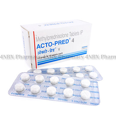 Acto-Pred(Methylprednisolone)-4mg(10Tablets)