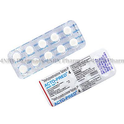 Acto-Pred (Methylprednisolone) - 4mg (10 Tablets)