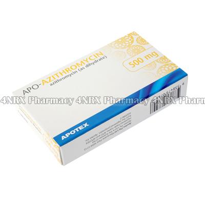 Apo-Azithromycin (Azithromycin Dihydrate) - 500mg (2 Tablets)3
