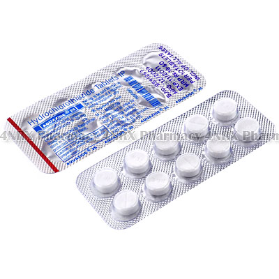 Aquazide (Hydrochlorothiazide) - 25mg (10 Tablets)