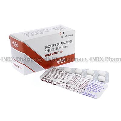 Biselect10(BisoprololFumarate)-10mg(10Tablets)