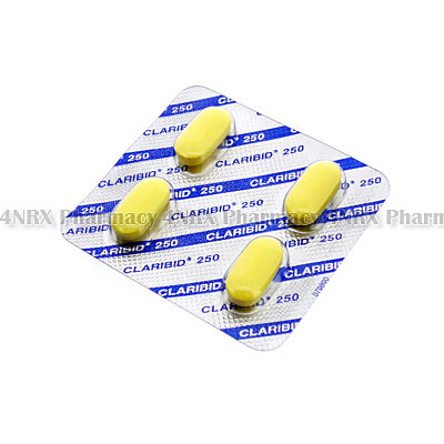 Claribid (Clarithromycin) - 250mg (4 Tablets)