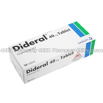 Dideral (Propranolol Hydrochloride) - 40mg (50 Tablets)2