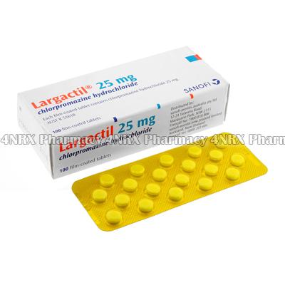 Largactil (Chlorpromazine Hydrochloride) - 25mg (100 Tablets)1