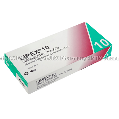 Lipex (Simvastatin) - 10mg (30 Tablets)2