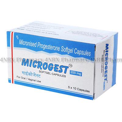 Microgest(MicronisedProgesterone)-200mg(50Capsules)