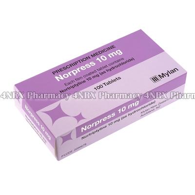 Norpress (Nortriptyline Hydrochloride) - 10mg (100 Tablets)3