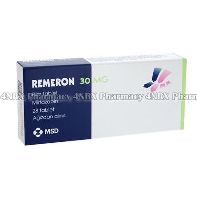 Remeron (Mirtazapine) - 30mg (28 Tablets)1