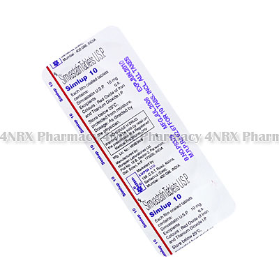 Simlup (Simvastatin) - 10mg (10 Tablets)
