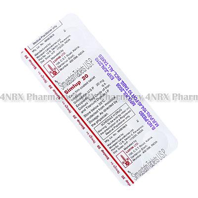 Simlup (Simvastatin) - 20mg (10 Tablets)