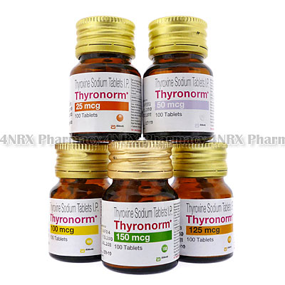 Thyronorm (Thyroxine Sodium) - 25mcg (100 Tablets)