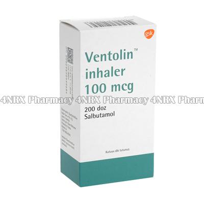 Ventolin Inhaler (Salbutamol) - 100mcg (200 Doses)(Turkey)1
