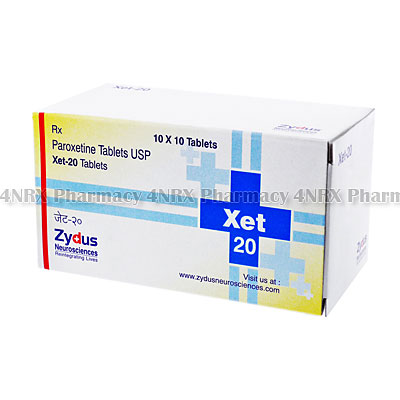 Xet(Paroxetine)-20mg(10Tablets)
