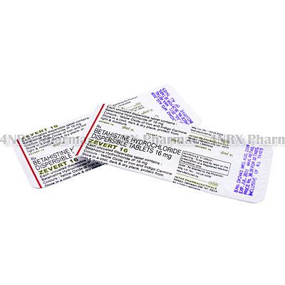 Zevert (Betahistine) - 16mg (10 Tablets)